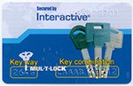 multlock key card, key card, mul-t-lock cut key card